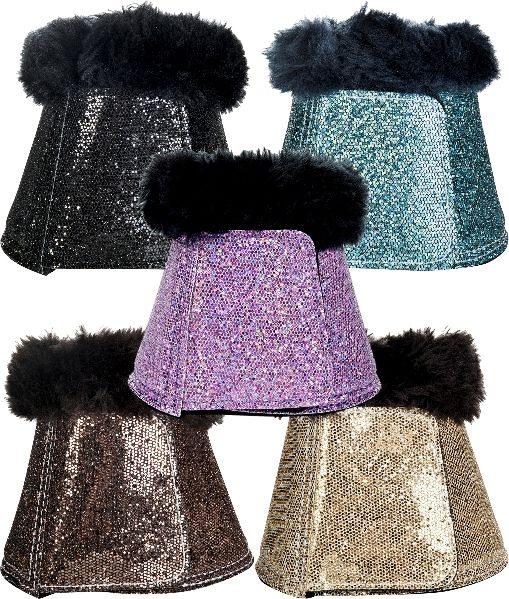 HKM Glitter Over Reach Boots - Various Colours